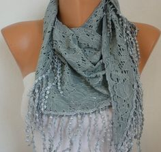 Gray Scarf    -  by fatwoman, $18.00