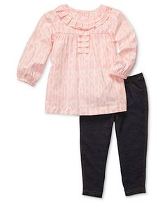 Carter's Baby Set, Baby Girls 2-Piece Tunic and Leggings - Kids Newborn Shop - Macy's