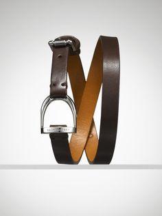 Ralph Lauren Leather Stirrup Wrap Bracelet