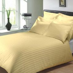 Kiaana Finesse Beige Stripe Double BedSheet With Two Pillow Covers - Add oodles of style to your home with an exciting range of designer furniture, furnishings, decor items and kitchenware. We promise to deliver best quality products at best prices. Luxury Furniture, Cool Furniture, Furniture Design, Linen Bedding, Bed Linen, Bed Sheets, Decorative Items, Pillow Covers, Beige
