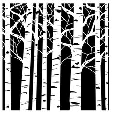 Art made easy! The Crafter's Workshop® Aspen Trees template allows you to stencil, trace, sponge, chalk and more. Shop a variety of stencil templates. Art Positif, Tree Stencil, Stencil Art, Stencil Patterns, Stencil Printing, Craft Stencils, Paint Stencils, Stencils Online, Leaf Stencil