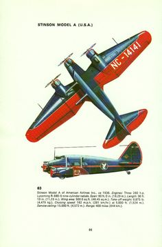 vintage print AIRCRAFT Stinson WW2 airplane bedroom decor plane airplane decor red plane on Etsy, $15.99 AUD