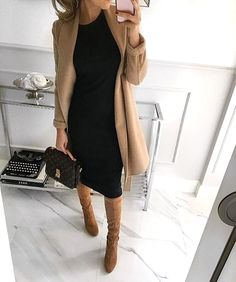 Perfect autumnal outfit for the office or a couple of drinks after work camel coat outfit