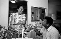 Muhammad Ali with his Mother at home, Louisville, Ky. 1963