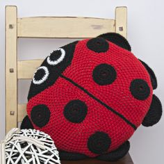 Ladybird Cushion Crochet Kit