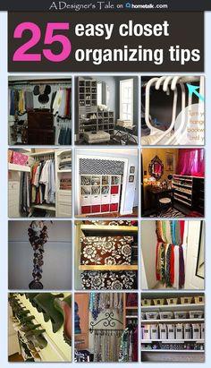 25 Easy Closet Organizing Tips