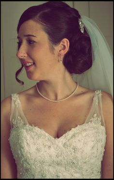 Alice, a classic bridal look using my bespoke clip in extensions adding volume to the style
