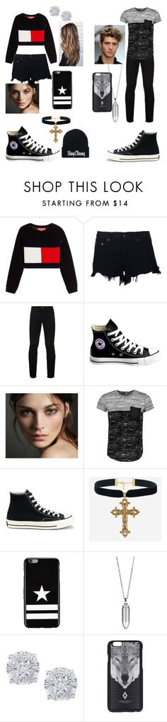 """""""Cookout w/ family"""" by laurenb-3 ❤ liked on Polyvore featuring rag & bone, Hilfiger Denim, Converse, Burberry, Boohoo, Givenchy, Akillis, Effy Jewelry and Marcelo Burlon"""