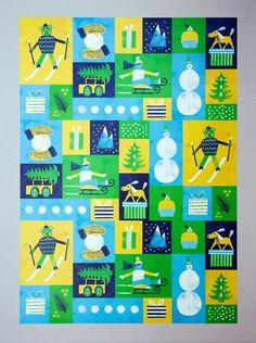 #Illustration #Geschenkpapier von Nanna Prieler, Illustratorin