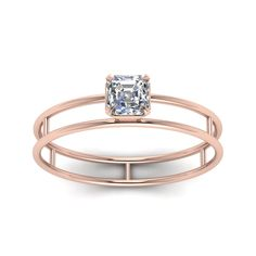 Shop asscher cut diamond engagement ring in rose gold at Fascinating Diamonds. This Affordable Engagement Rings can be customized as per your desire. Different Engagement Rings, Engagement Rings Sale, Asscher Cut Diamond Engagement Ring, Beautiful Gold Rings, Wedding Jewelry, Wedding Rings, Vintage Style Rings, Unique Rings, Diamond Cuts