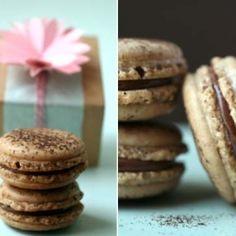 Coffee and milk chocolate macarons