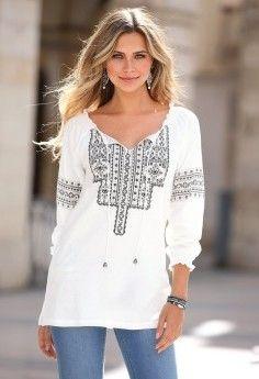 Toto tričko s kaftanovým výstrihom nesmie chýbať v žiadnom Boho šatníku. Etno di Manga Raglan, Tunic Tops, Boho, Blouse, Lace, Long Sleeve, Sleeves, Women, Fashion