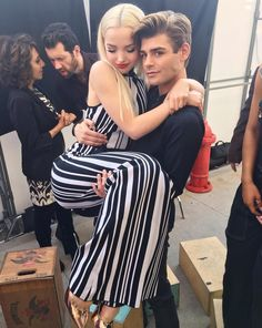 Dove Cameron with Garret Clayton