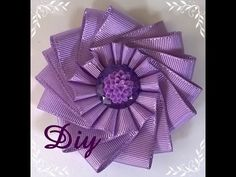 Flor de fita de gorgurão DIY \ Ribbon flower - YouTube