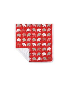 Elephant - Jersey Blanket - Red - Littlephant
