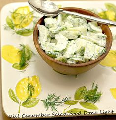 Perfect for summer. Dill Cucumber Salad www.fooddonelight.com