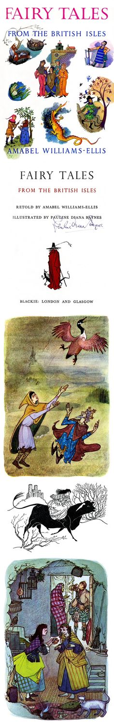 Cover and Illustrations from Fairy Tales from the British Isles