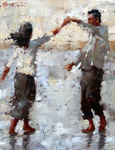 dancing couple by Andre Kohn, Figurative Impressionist Painter Fine Art, Figure Painting, Painting Art, Beautiful Paintings, Figurative Art, Amazing Art, Art Photography, Illustration Art, Drawings