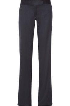 Love my classic, tailored black pants.. these Stella McCartney Jasmine wool-twill wide-leg pants are to die for..