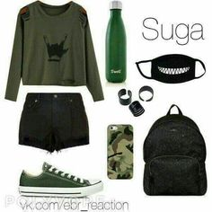 kpop fashion Looks Feminine of BTS Teenager Outfits, Outfits For Teens, Summer Outfits, Girl Outfits, Mode Kpop, Bts Clothing, Bts Inspired Outfits, Kpop Fashion Outfits, Korean Outfits Kpop