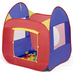 Portable Kid Baby Play House Toy Tent Durable Foldable and Portable Multicolor Childrens Outdoor Toys, Ball Pit Tent, Baby Play House, Kids Castle, Activity Cube, Cube Toy, Kids Tents, Creative Play, Cartoon Kids