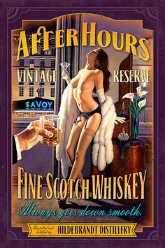 """Buy Greg Hildebrandt's """"After Hours"""" from The Pin-up Files. Special edition fine art print signed by the artist."""