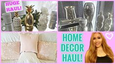 HOME DECOR HAUL ♡ T.J.MAXX, MARSHALLS, ROSS | PINK GOLD AND SILVER DECOR