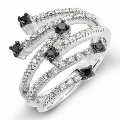 Diamond Fashion Ring .98 Ctw 14k Cocktails Rings Carat Ctw
