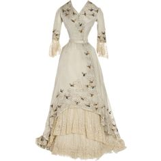 Edited by Beverly in Photoshop ~ Era 1900-1905 ❤ liked on Polyvore featuring dresses, gowns, costumes, victorian and vintage