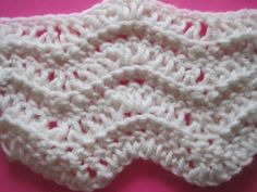 Chevron Stitch  A retro way of adding interest to a scarf is by using the chevron stitch.  This chevron is also perfect for stripes which really pop out when using this stitch.