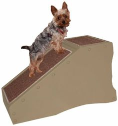 Pet Gear StRamp Stair Ramp Combo For Cats And Dogs Tan