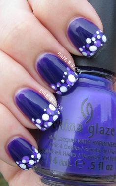 I LOVE THIS COLOUR! And the design is really cute too! #NailArt