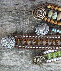 Triple Row (AND Multi Wrap) Leather Bracelet Tutorial PDF