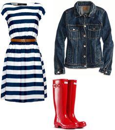 5 Ways to Wear Rain Boots #rainboots