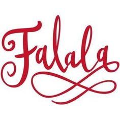 Silhouette Design Store - View Design #106612: falala handlettered