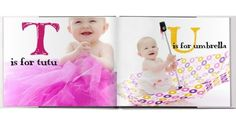 Take a picture of your LO with an object starting with each letter of the alphabet and make a photo book.