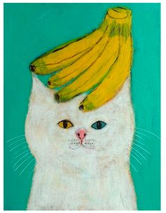 By Pepe Shimada (i don't know why it's a cat with bananas on its head, but i kinda dig it anyway. :D)