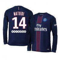 PSG Home 16-17 Season LS #14 Matuidi Blue Soccer Jersey