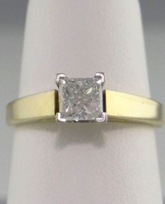 .70ct PRINCESS ENGAGEMENT DIAMOND SOLITAIRE 14K GOLD RING