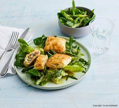 Prosciutto, Fresh Rolls, Teller, Chicken, Meat, Ethnic Recipes, Mascarpone, Asparagus, Healthy Food