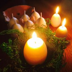 Ostara Easter Egg Candles with Appearing by WhiteMagickAlchemy