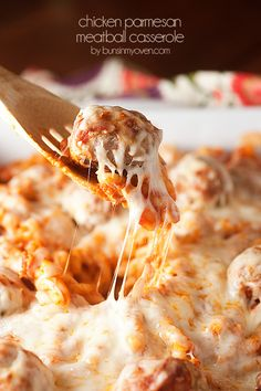 Chicken parmesan casserole: Freezer option