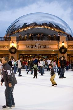 Start dusting off you skates and get ready to take to the ice in Millennium Park November 15 through March 9, 2014