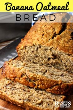 Jan Easy Banana Oatmeal Bread is a great way to use up ripe bananas in a better-for-you banana bread enhanced with the goodness of oats! Oatmeal Bread Recipe, Oatmeal Banana Bread, Oatmeal Cake, Healthy Banana Bread, Oatmeal Recipes, Banana Bread Coconut Oil, Coconut Flour, Simply Recipes Banana Bread, Healthy Bread Recipes