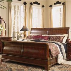 sleigh bed British colonial   Sleigh Bed Store - Alison Craig Home Furnishings - Naples, Fort Myers ...