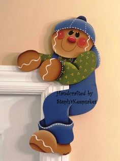 Hand Painted Gingerbread  Door Huggers, gingerbread man, gingerbread kitchen, ginger decor, gingerbread boy