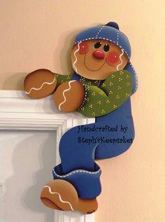 Hand Painted Gingerbread  Door Huggers, gingerbread man, gingerbread kitchen, ginger decor, gingerbread boy