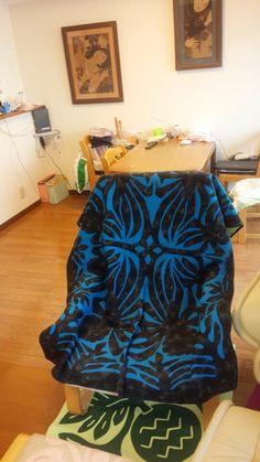 ハワイアンキルトの椅子カバー