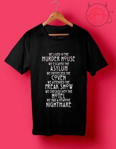Murder House T Shirt //Price: $14.50