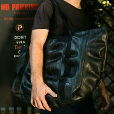 Just added... this Jumbo Tote Bag is huge on the inside and its recycled inner tube skin looks super slick!